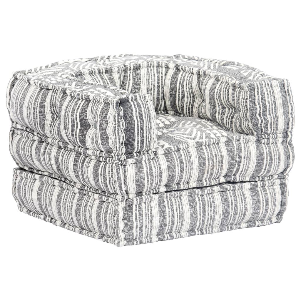 vidaXL Fotel modułowy tapicerowany tkaniną w paski