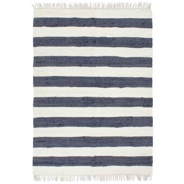 Vidaxl Hand Woven Chindi Rug Cotton