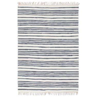 Vidaxl Hand Woven Chindi Rug Cotton 200x290 Cm Blue And