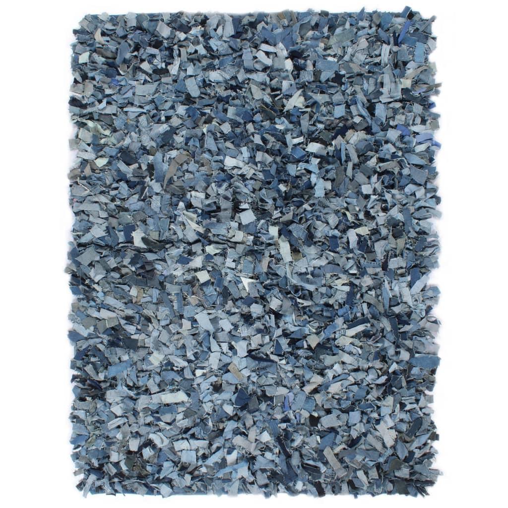 999133957 Shaggy-Teppich Denim 80 x 160 cm Blau