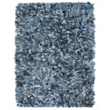 vidaXL Tapis Shaggy Denim 160x230 cm Bleu