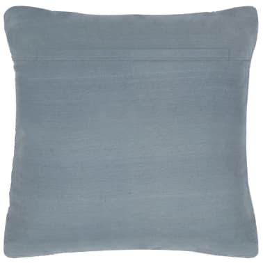 vidaXL Perne decorative, 2 buc., Chindi gri, 45x45 cm, piele & bumbac[3/5]