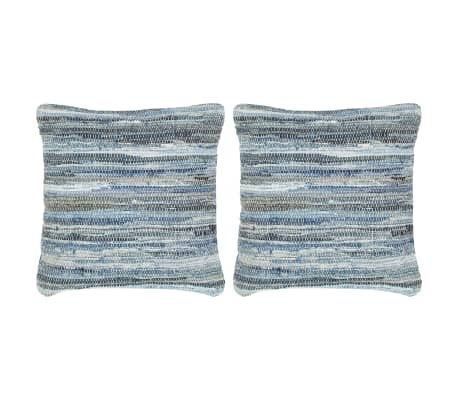 vidaXL Poduszki Chindi, 2 szt., dżinsowe, 45x45 cm, bawełna[1/5]