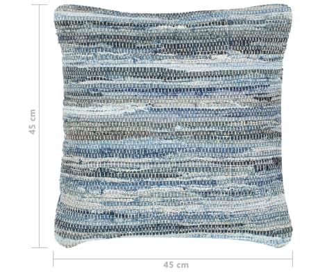 vidaXL Poduszki Chindi, 2 szt., dżinsowe, 45x45 cm, bawełna[5/5]