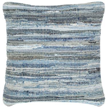vidaXL Poduszki Chindi, 2 szt., dżinsowe, 45x45 cm, bawełna[2/5]