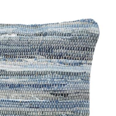vidaXL Poduszki Chindi, 2 szt., dżinsowe, 45x45 cm, bawełna[4/5]