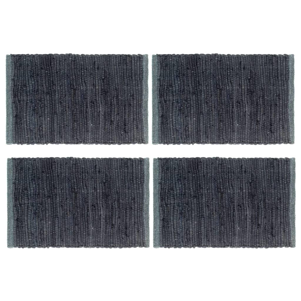 vidaXL Naproane, 4 buc., antracit, 30x45 cm, bumbac, Chindi, simplu imagine vidaxl.ro