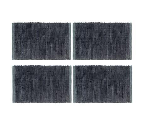 vidaXL Stalo kilimėliai, 4 vnt., antracito spalvos, 30x45cm, chindi[1/5]