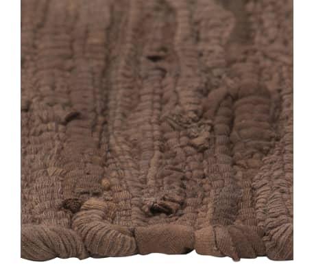 vidaXL Stalo kilimėliai, 4 vnt., vienspalviai rudi, 30x45cm, medvilnė[4/5]