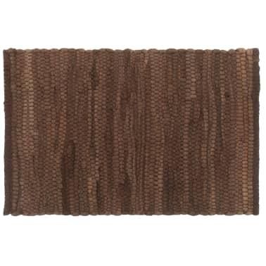 vidaXL Stalo kilimėliai, 4 vnt., vienspalviai rudi, 30x45cm, medvilnė[2/5]