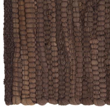 vidaXL Stalo kilimėliai, 4 vnt., vienspalviai rudi, 30x45cm, medvilnė[3/5]