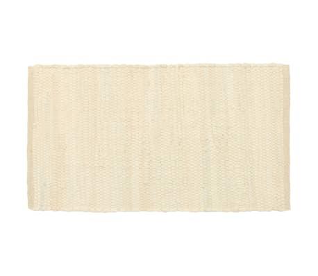 vidaXL Prestierania 6 ks chindi krémové 30x45 cm bavlnené[2/5]