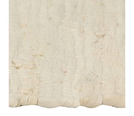 vidaXL Prestierania 6 ks chindi krémové 30x45 cm bavlnené[4/5]