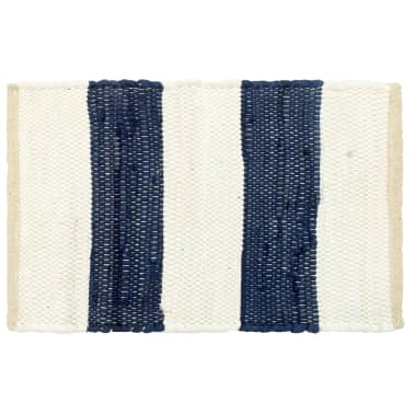 vidaXL Stalo kilimėliai, 4vnt., mėlynų + baltų dryžių, 30x45cm, chindi[2/5]
