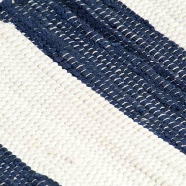 vidaXL Stalo kilimėliai, 4vnt., mėlynų + baltų dryžių, 30x45cm, chindi[5/5]