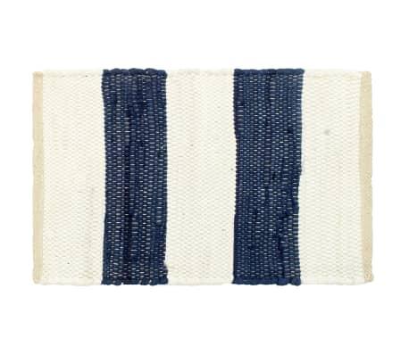 vidaXL Stalo kilimėliai, 6vnt., mėlynų + baltų dryžių, 30x45cm, chindi[2/5]