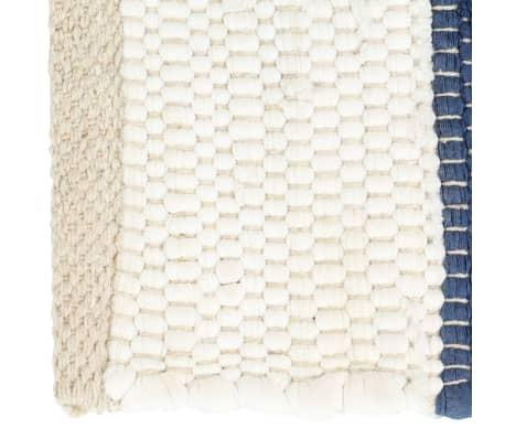 vidaXL Stalo kilimėliai, 6vnt., mėlynų + baltų dryžių, 30x45cm, chindi[3/5]