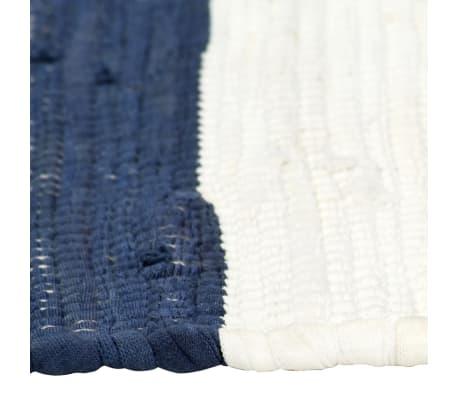 vidaXL Stalo kilimėliai, 6vnt., mėlynų + baltų dryžių, 30x45cm, chindi[4/5]