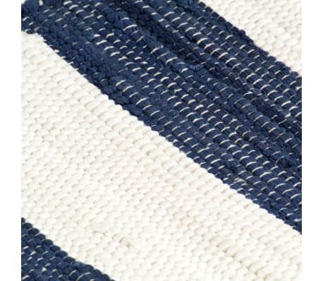 vidaXL Stalo kilimėliai, 6vnt., mėlynų + baltų dryžių, 30x45cm, chindi[5/5]