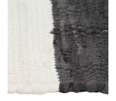 vidaXL Stalo kilimėliai, 4vnt., antrac.+baltų dryžių, 30x45cm, chindi[4/5]