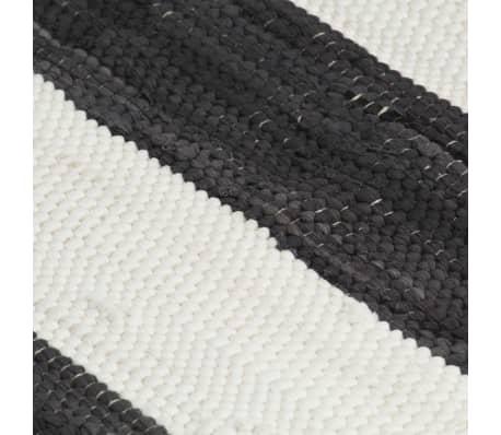 vidaXL Stalo kilimėliai, 4vnt., antrac.+baltų dryžių, 30x45cm, chindi[5/5]
