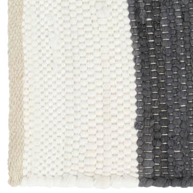 vidaXL Stalo kilimėliai, 4vnt., antrac.+baltų dryžių, 30x45cm, chindi[3/5]