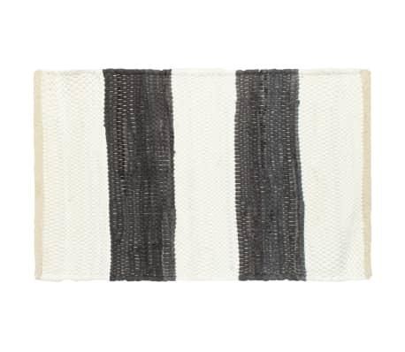 vidaXL Stalo kilimėliai, 6vnt., antrac.+baltų dryžių, 30x45cm, chindi[2/5]