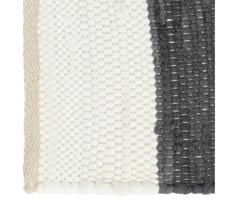 vidaXL Stalo kilimėliai, 6vnt., antrac.+baltų dryžių, 30x45cm, chindi[3/5]