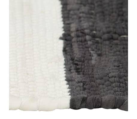 vidaXL Stalo kilimėliai, 6vnt., antrac.+baltų dryžių, 30x45cm, chindi[4/5]