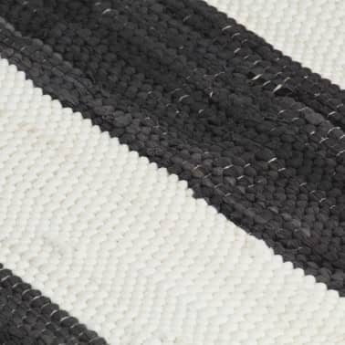 vidaXL Stalo kilimėliai, 6vnt., antrac.+baltų dryžių, 30x45cm, chindi[5/5]