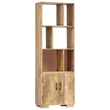 """vidaXL Bookshelf 23.6""""x13.8""""x70.9"""" Solid Mango Wood[12/12]"""