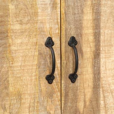 """vidaXL Bookshelf 23.6""""x13.8""""x70.9"""" Solid Mango Wood[6/12]"""