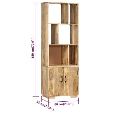 """vidaXL Bookshelf 23.6""""x13.8""""x70.9"""" Solid Mango Wood[7/12]"""