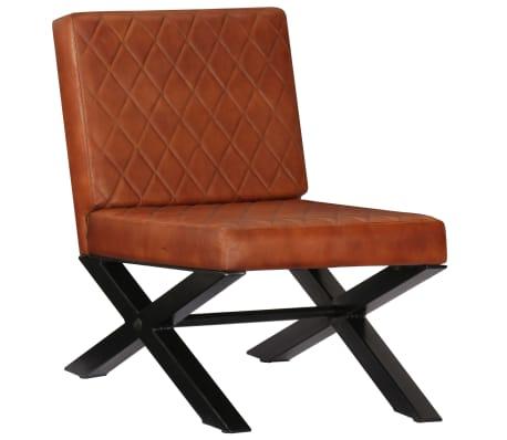 vidaXL Fåtölj äkta läder brun