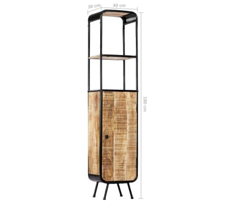 vidaXL Dulap înalt, 40 x 30 x 180 cm, lemn masiv de mango nefinisat[10/14]