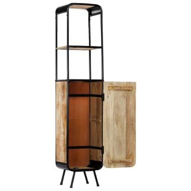 vidaXL Dulap înalt, 40 x 30 x 180 cm, lemn masiv de mango nefinisat[3/14]