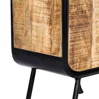 vidaXL Dulap înalt, 40 x 30 x 180 cm, lemn masiv de mango nefinisat[9/14]