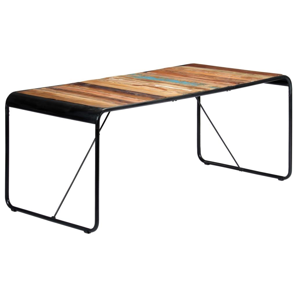 vidaXL tömör újrahasznosított fa étkezőasztal 180 x 90 x 76 cm