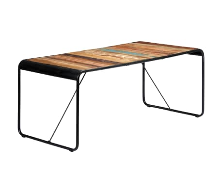 vidaXL Table de salle à manger 180x90x76cm Bois de récupération solide