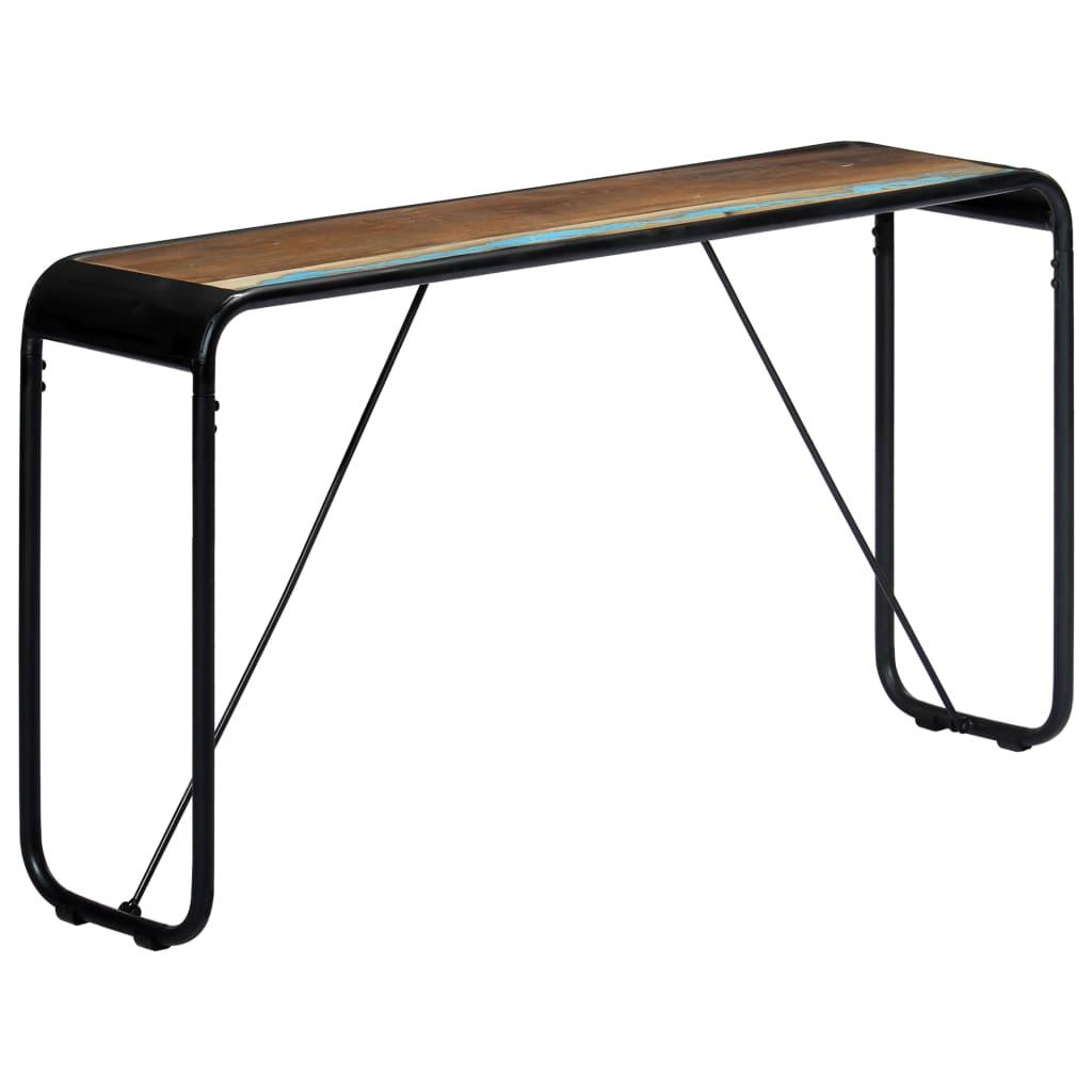 vidaXL Konzolni stol 140 x 35 x 76 cm od masivnog obnovljenog drva