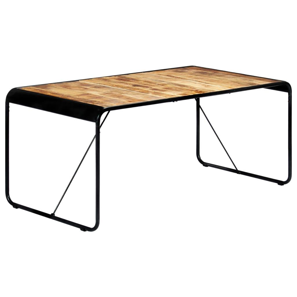 vidaXL tömör nyers mangófa étkezőasztal 180 x 90 x 76 cm