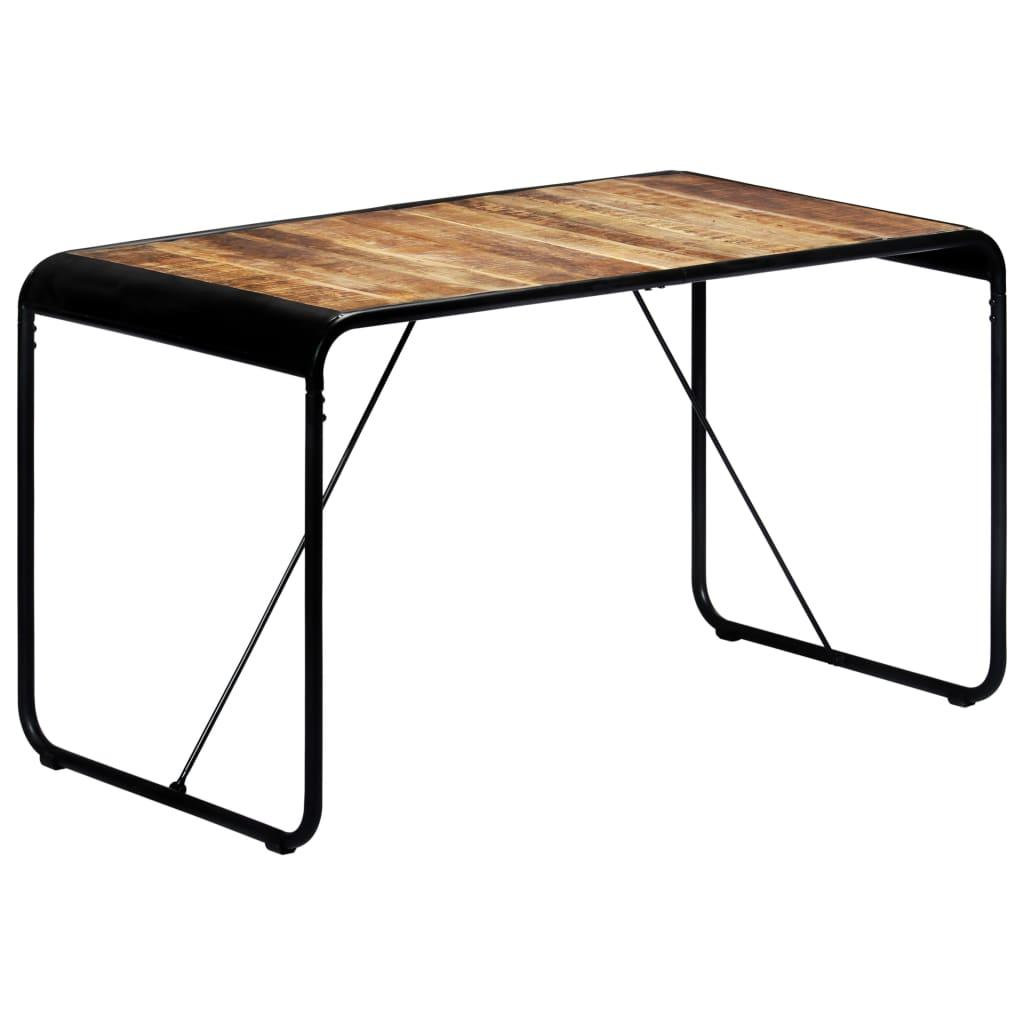 vidaXL tömör nyers mangófa étkezőasztal 140 x 70 x 76 cm