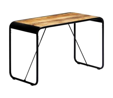 vidaXL Table à dîner 118x60x76 cm Bois de manguier massif brut