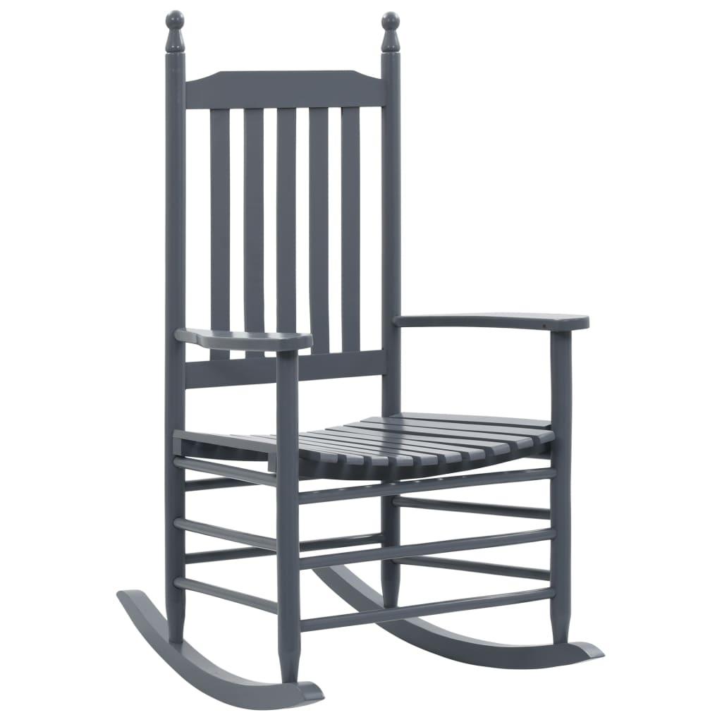 vidaXL Balansoar cu șezut curbat, gri, lemn de plop poza 2021 vidaXL
