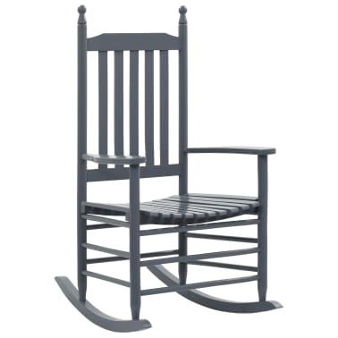 vidaXL Balansoar cu șezut curbat, gri, lemn[1/8]