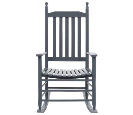 vidaXL Balansoar cu șezut curbat, gri, lemn[2/8]