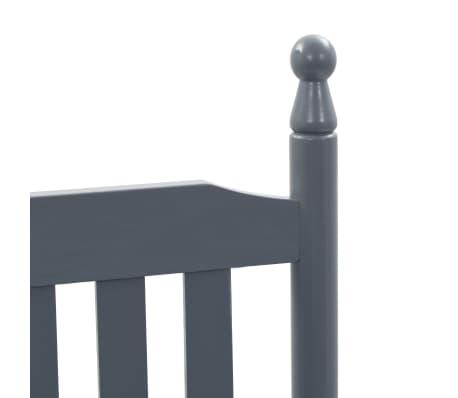 vidaXL Balansoar cu șezut curbat, gri, lemn[5/8]