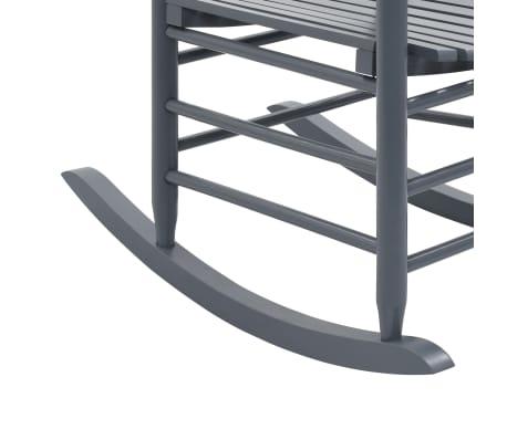 vidaXL Balansoar cu șezut curbat, gri, lemn[7/8]