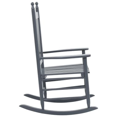 vidaXL Balansoar cu șezut curbat, gri, lemn[3/8]
