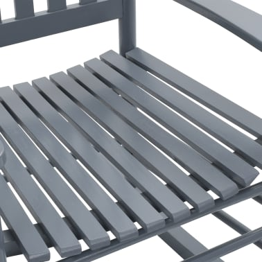 vidaXL Balansoar cu șezut curbat, gri, lemn[6/8]